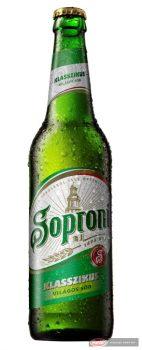 Soproni üveges sör 0,5l +üv