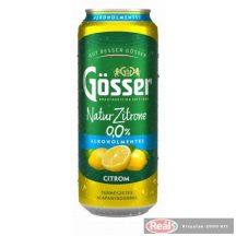 Gösser Natur Zitrone citrom ízű alkoholm.sör 0,5l dobozos