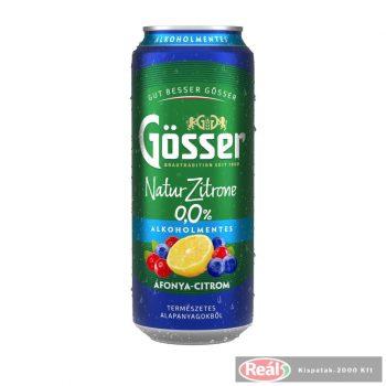 Gösser NaturZitron4e 0,5l Áfonya-citrom alkoholmentes dob.sör