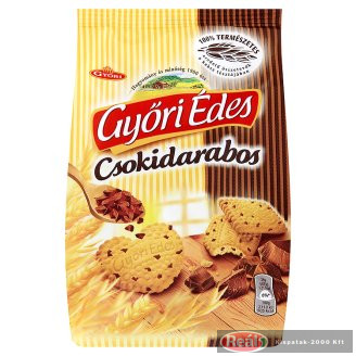 Győri Édes omlós keksz 150g csokidarabos