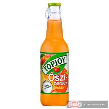 Topjoy 0,25l őszibarack 50% üveges