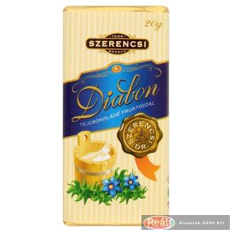 Szerencsi Diabon tejcsokoládé fruktózzal 20g