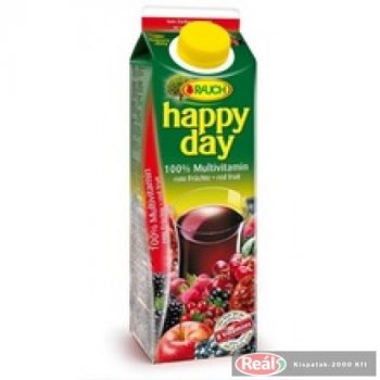 Happy Day gyümölcslé 1l 100% multivitamin dobozos