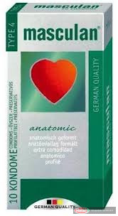 Masculan-4 zöld gumióvszer 10db