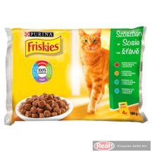 Friskies macskaeledel 4*85g húsos válogatás