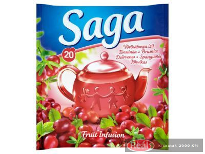 Sága tea 20 filter vörös áfonya