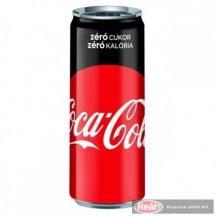Coca Cola szénsavas üdítő 0,33l Zero dobozos