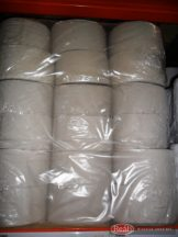 Ipari toalettpapír szürke 19cm átm. 1rétegű 12db