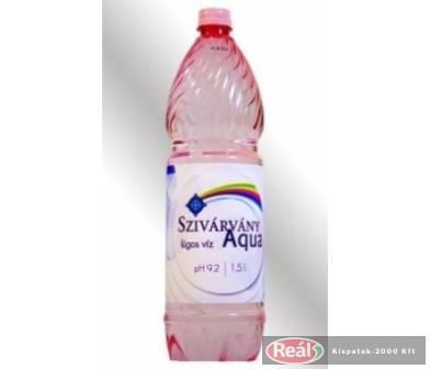 Szivárvány Aqua lúgos ásványvíz 1,5l PET pH 9,2