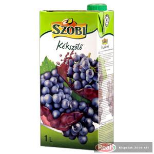 Szobi gyümölcslé 1l kékszőlő 12% dobozos