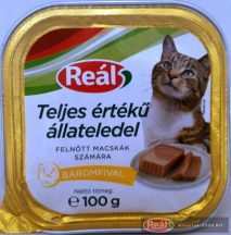 Reál macskaeledel alutálcás 100g baromfi