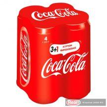 Coca Cola szénsavas üdítő 4*0,33l dobozos