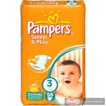 Pampers Sleep & Play Midi Pelenka 58db-os