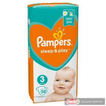 Pampers Sleep&Play detské jednoráz.plienky 3,58ks