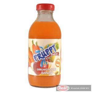Fruppy gyümölcsital 0,33l répa-alma-banán üveges
