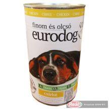 Euro Dog kutya konzerv 1,24kg csirke