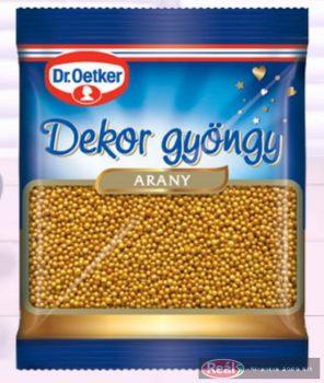 Dr.Oetker dekor gyöngy 30g arany színű