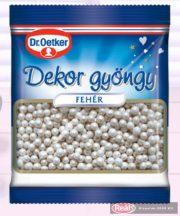 Dr.Oetker dekoratívne korálky biele 30g
