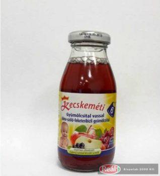 Kecskeméti bébiital 200ml alma-szőlő-f.ribizli vassal(6 hó)