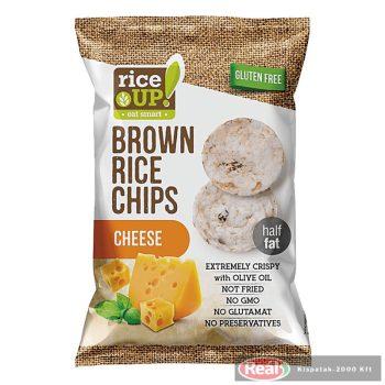 Rice up barna rizs chips 60g sajtos