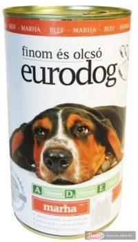 Euro dog kutya konzerv 415g marha
