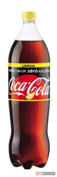 Coca Cola szénsavas üdítő 1,75l Zero lemon PET