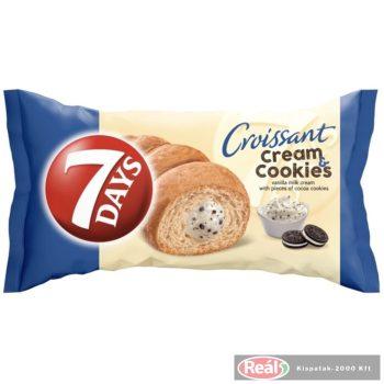 7days croissant 60g cream&cookies kakaós keksz vanilia tölt.