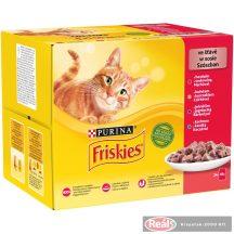 Friskies macskaeledel 12*85g csirke-marha-bárány-kacsa