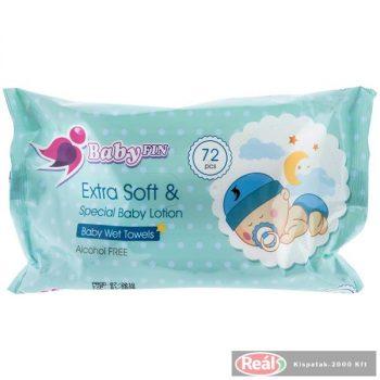 Baby fin nedves babatörlőkendő 72db kupak nélküli