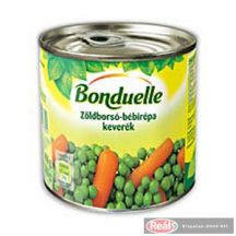 Bonduelle Zöldborsó-bébirépa 400g/265gTT dobozos