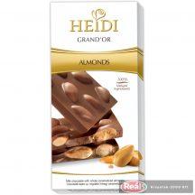 Heidi Grand'Or TejcsokI egész mandulával 100g táblás