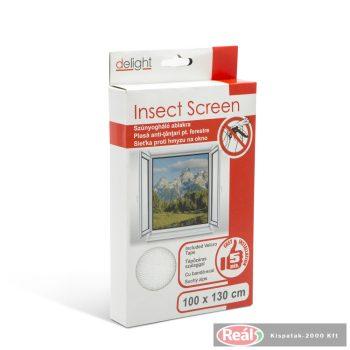 Szúnyogháló ablakra - fehér 100*130