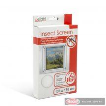 Szúnyogháló ablakra - fehér 130*150