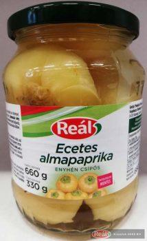 Reál üveges zöldség 680g/300gTT ecetes almaparika