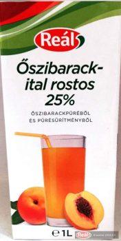 Reál Őszibarackital 25% 1l dobozos tetra gyümölcslé