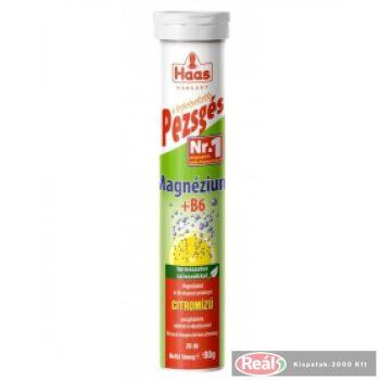 Haas pezsgőtabletta 80g Magnézium+B6 citrom ízű