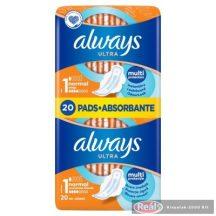Always Ultra Duo egészségügyi betét 20db normál