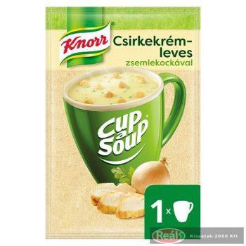 Knorr instant leves 16/18 g csirkekrémlev.pir.zsemlekockával