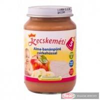 Kecskeméti bébiétel 190g alma-banánpüré csirkehússal(5 hó)