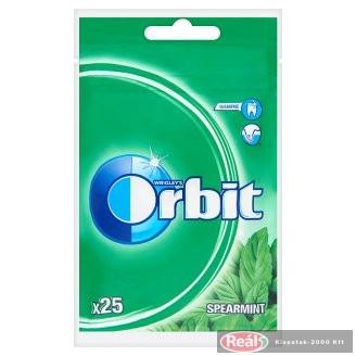 Orbit Spearmint mentaízű cukorm.rágógumi édesítős 25db 35g