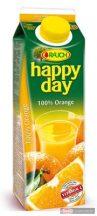 Happy Day gyümölcslé 1l 100% narancs dobozos