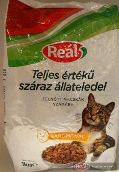 Reál Teljes értékű macskaeledel száraz baromfi 1kg