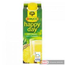 Happy Day gyümölcslé 1L 100% ananász dobozos
