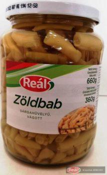 Reál sárgahüvelyű zöldbab üveges konzerv 720ml