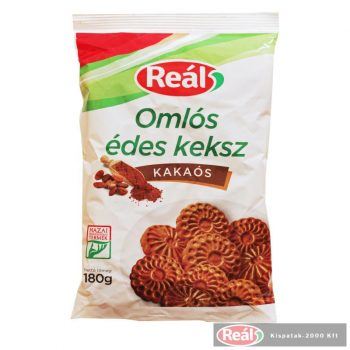 Reál Omlós édes keksz kakaós 180g