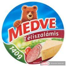 Medve ömlesztett sajt 140g téliszalámis