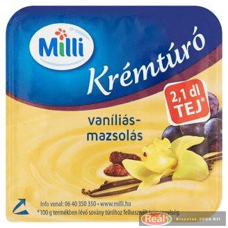 Milli krémtúró 90 g vaníliás-mazsolás