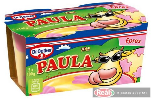 Dr. Oetker Paula vaníliaízű puding epres foltokkal 2 x 100 g
