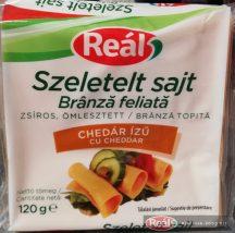 Reál sajtszelet chedár ízű 120g