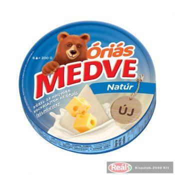 Medve Óriás 200g natúr dobozos sajt